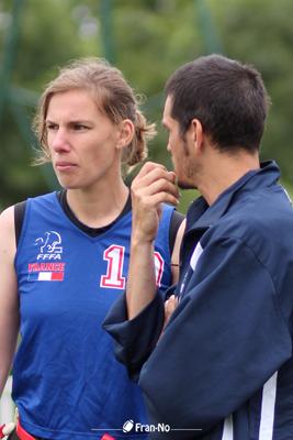 Audrey Malherbe suit les conseils du Coach Sylvain Guyot