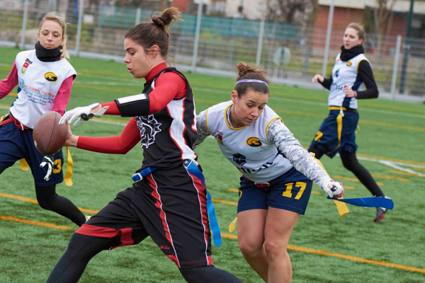 Duel entre internationales à l'occasion du match <a href='/france/asnieres-molosses'>Molosses</a> - Spartiates