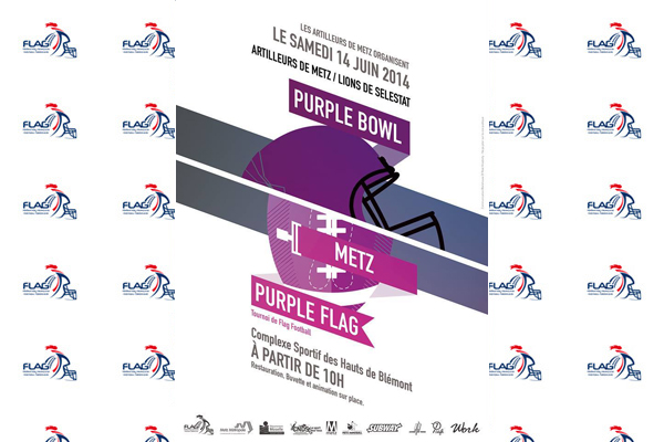 L'affiche du Purple Bowl/Purple Flag