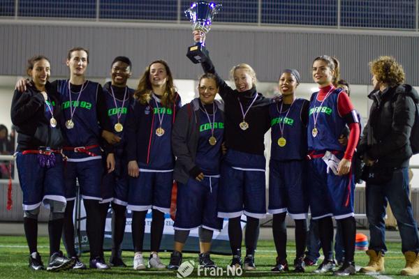 Les Redlips d'Asnières, vainqueures de la Coupe de France féminine 2016