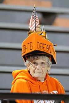 Nice hat lady!