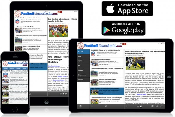 Applications iOS et Android de FootballAmericain.com