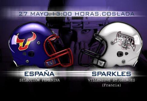 La selection espagnole contre les Sparkles