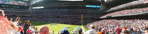 Le NRG Stadium de l'intérieur
