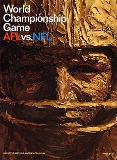 Le programme du Super Bowl I