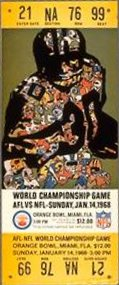 Le ticket du Super Bowl II