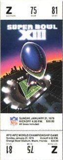 Le ticket du Super Bowl XIII