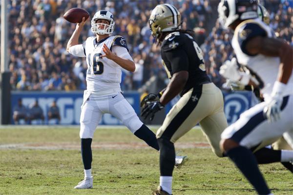 Encore une belle prestation de Jared Goff face aux Saints