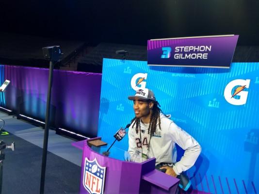 Gilmore semblait savourer cette qualification pour le Super Bowl