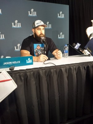 Jason Kelce avait enfilé son t shirt à l'effigie de Jason Peters