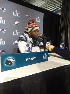 Jay Ajayi a fait honneur à son pays avec ce bonnet aux couleurs dela Grande-Bretagne