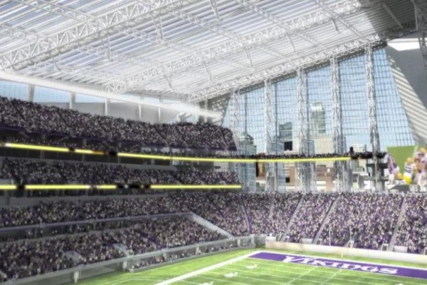 Vue intérieure du nouveau stade des Vikings