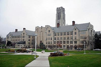 Le campus de l'université deToledo dans l'Ohio