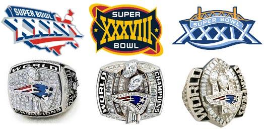 Les bagues de champions du Super Bowl