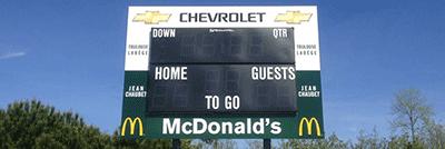 Un scoreboard rutilant
