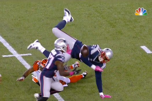 Jamie Collins commet le fumble à son tour