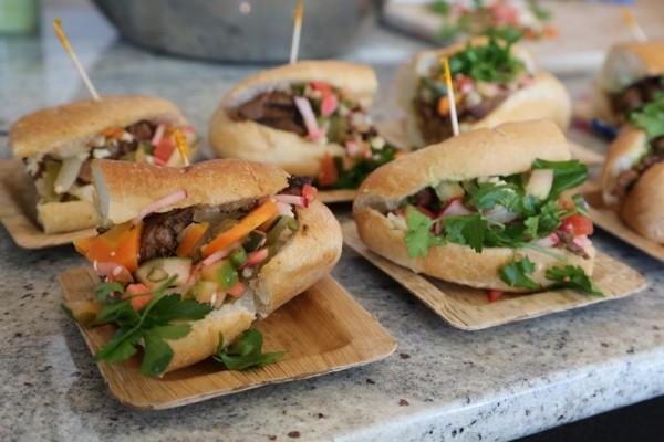 un sandwich mixe mexicain et vietnamien