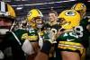 Mason Crosby célébré. Il vient d'envoyer ses Packers en finale NFC